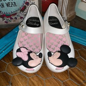 Mini Melissa white Mickey and Minnie size baby 7